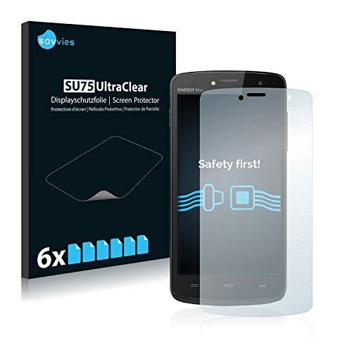 savvies Protector Pantalla Compatible con EnergySistem Energy Phone MAX (6 Unidades) Pelicula Ultra Transparente