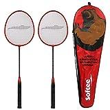 Softee Equipment Juego Dos Raquetas Badminton Senior