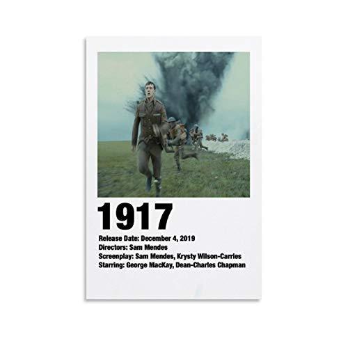 STTYE Póster de la película Art Déco de 1917 de 1917, póster de la película Time Is The Enemy, decoración del hogar, 30 x 45 cm, sin marco