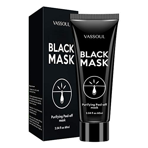Vassoul Blackhead Remover Mask, Peel Off Blackhead Mask - Deep Cleansing Black Mask, Bamboo Activated Charcoal Peel-Off Mask
