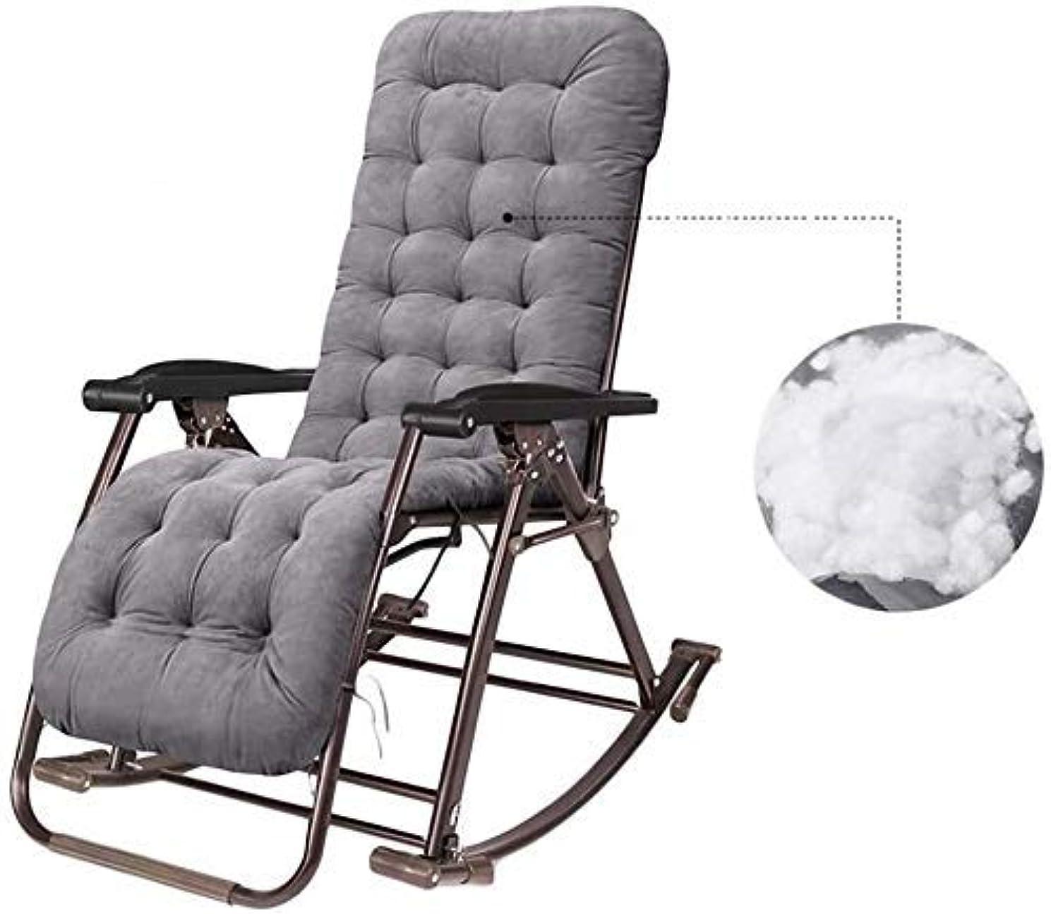 それによって計算プロポーショナルリクライニングチェアの屋外の椅子、屋外の庭のロッキングチェアのリラックスできる椅子、キャンプの庭のデッキチェア、超広いテラスのリクライニングチェア(色:クッション付き)