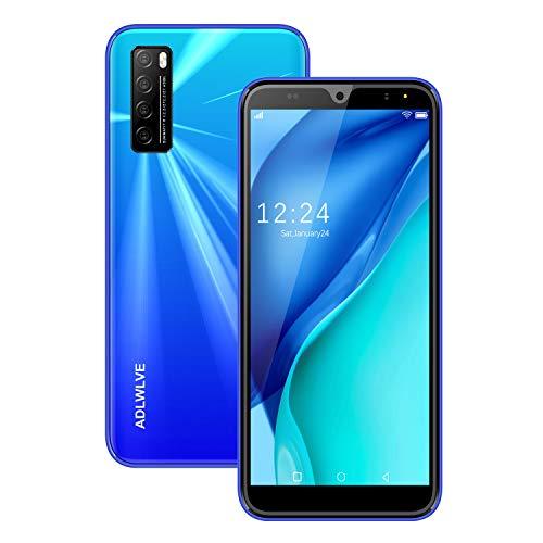 Moviles Libres Baratos 4G,6.3Pulgadas 3GB RAM 32GB ROM / 64GB Smartphone Libre Android 9.0 Face ID teléfonos móviles gratuitos, 8MP 4600mAh,Dual SIM Quad Core Moviles Buenos (Rojo) (Azul)