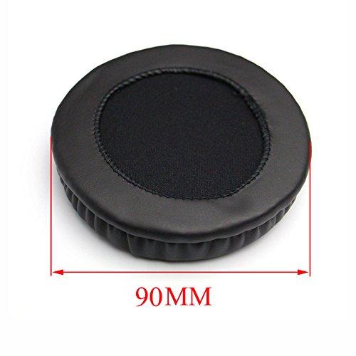 Shinecozy Premium Kopfhörer Ohrpolster Kunstleder Schaumstoff-Ohrkissen, Headset Ohrpolster Ersatzteile (For Universal Diameter 90MM)