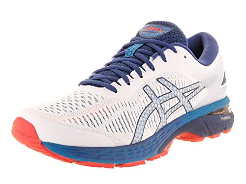 ASICS Men's Gel-Kayano 25 Running Shoes, 11M, White/Blue Print