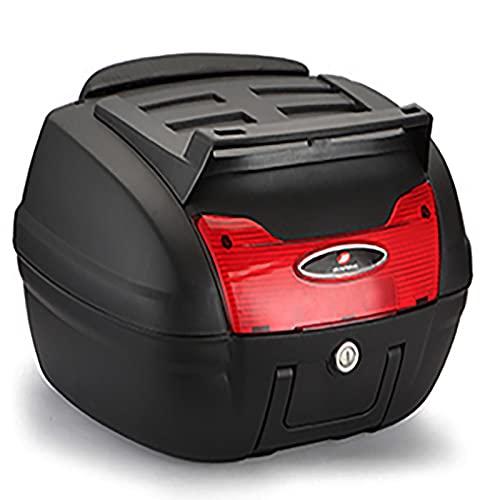 HDGFYTOR Baúl de Moto Universal 40L con Llaves y Accesorios Topcase Casco Moto Caja de Motocicleta Ciclomotores Scooter