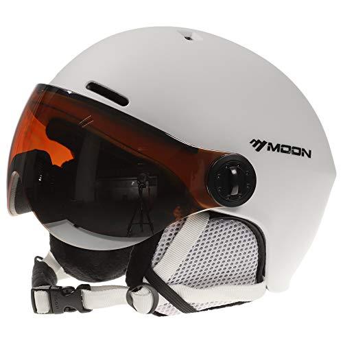 Lixada Casco de Esquí con Orejeras y Gafas Casco de Esquí de Seguridad Casco de Esquí Profesional Hombres y Mujeres