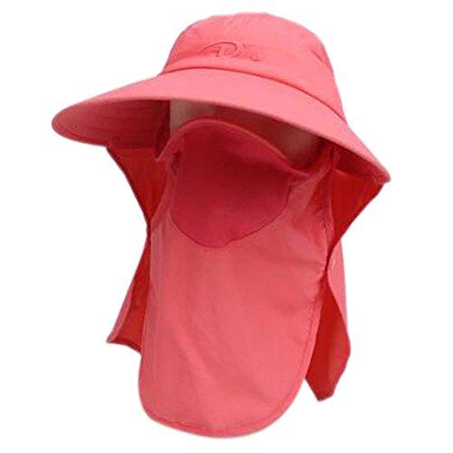 Chapeau à Larges Boucles d'oreille en Coton à Manches Longues pour Femme Masque Facial UPF 50+