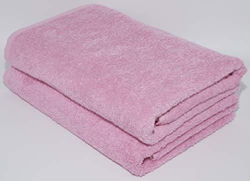 Lot de serviettes absorbantes 100 % coton naturel 500 g/m², de qualité hôtelière, 70 x 140 cm et serviettes de toilette 50 x 90 cm