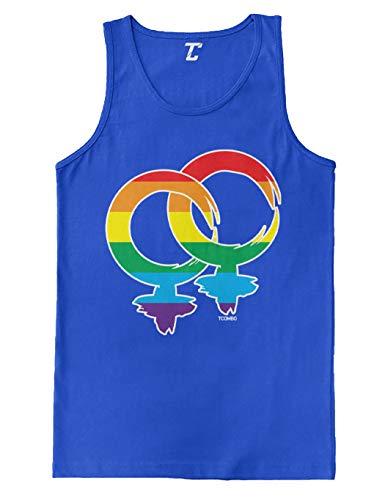 Lesbian Gender Symbol - LGBTQ Pride Men's Tank Top (Royal, Large)