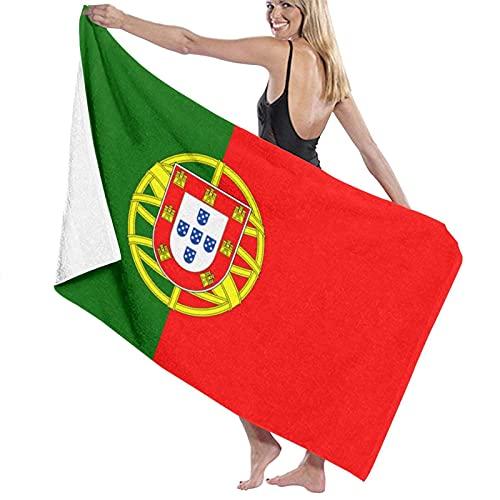 Lsjuee Toalla de baño de 80x130 CM, Toallas de baño con Bandera de Portugal, Toallas de baño de Playa súper absorbentes para Toallas de Playa de Gimnasio