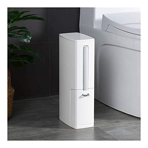 JIAHE115 Inductie vuilnisbak Prullenbak + + + toilet kit opbergdoos, rechthoekig vuilnis beweegbare douchecabine bis - Wit Huishoudelijke decoratieve opbergbak