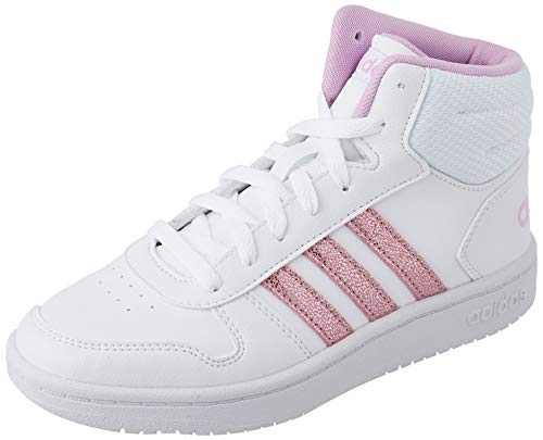 adidas Hoops Mid 2.0 Sneaker, Cloud White/Clear Lilac/Grey, 36 EU