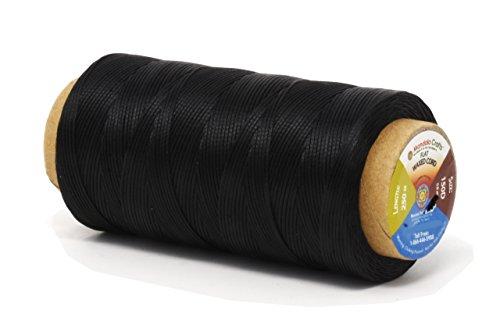 Mandala Crafts 150D 210D Cordón de hilo de cuero encerado plano de 0,8 mm 1 mm.