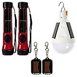 SOS Solarlight Survival Light Pack (6 Solar lights) 2 Solar Flashlights 2 Solar...