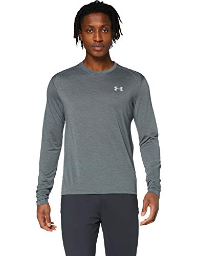 Under Armour Streaker 2.0 T-Shirt Manches Longues Homme Gris FR : XL (Taille Fabricant : XL)