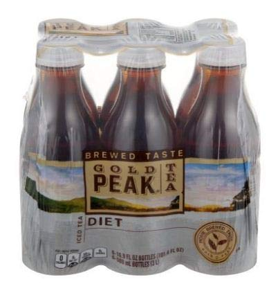 PACK OF 8 - Gold Peak Iced Tea Diet Bottles - 6 CT