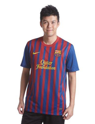 NIKE Barcelona F.C. - Camiseta de fútbol (Réplica), 2011-12, L, L, Color Multicolor