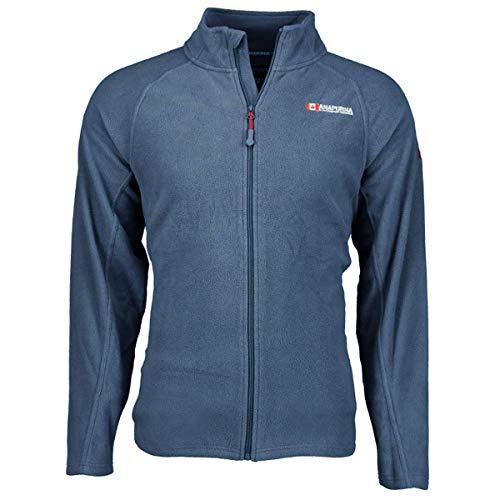 Anapurna Tonneau Herren-Fleece, voller Reißverschluss, zwei Taschen vorne, langarm, WT135-Blu-S