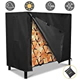 NASUM Firewood Rack Cover, Outdoor Log Rack Cover 4 Feet 600D Waterproof, 48(L) x24(W) x42(H) inches