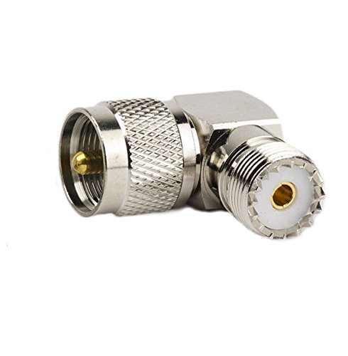 DHT Electronics RF coaxial coax adapter UHF male PL259 to female so239 right angle