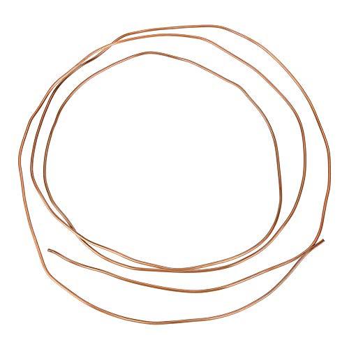 Akozon Tubo de freno de cobre, 2M, OD 2 mm x ID 1 mm, para tuberías de refrigeración para generadores, cables