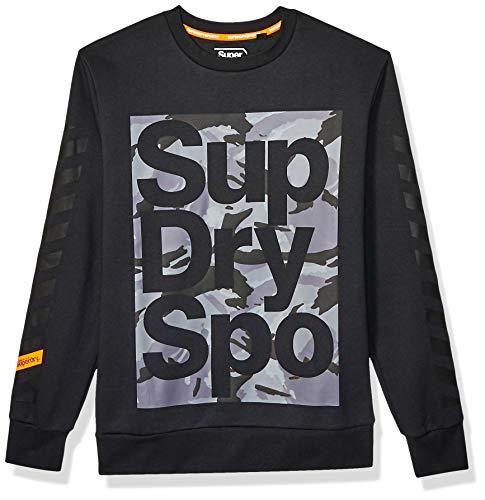 Superdry Unisex-Erwachsene Combat Boxer Crewneck Sweater Pullover, schwarz, XX-Large