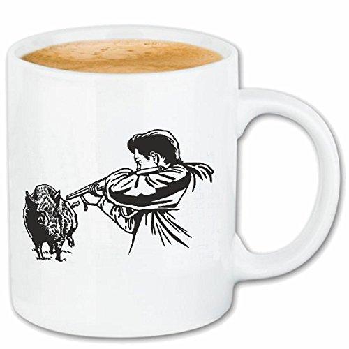 Reifen-Markt Taza para café Cazadores EN EL JABALÍ Caza del jabalí Wildsau Cerdo Salvaje Grande JABALÍ REH Caso Duro de la Cubierta Teléfono Cubiertas Cubierta para el330 ml de cerámica en Blanco