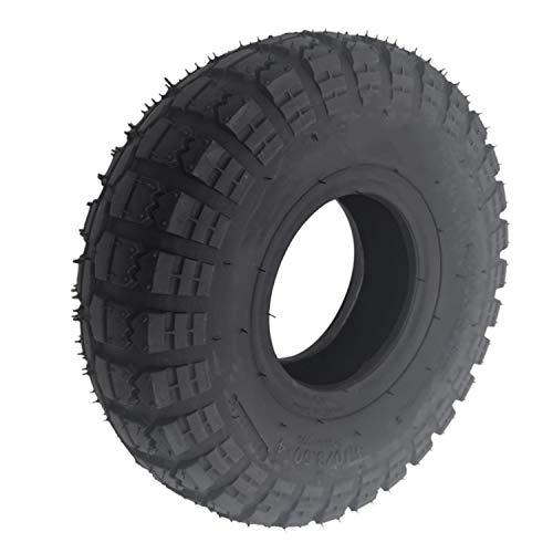 TOOGOO 4.10/3.50-4 410/350-4 ATV Quad Go Kart 47Cc 49Cc Chunky 4.10-4 Reifen Schlauch Passend für Alle Modelle 3.50-4 4 Zoll Reifen Au?En Reifen