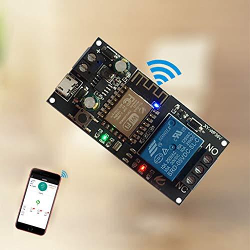 JIACUO Módulo de relé de Interruptor Inteligente inalámbrico hogar Inteligente DC6V ~ 36V para aplicación Sinilink WiFi teléfono móvil ESP-12F XY-WF36V