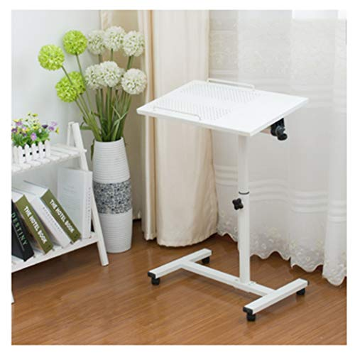 Folding Laptop Desk,Multi-Function Dinner Des Adjustable Portable Folding Standing Laptop Desk, Bed Table, Sofa Breakfast Tray, Notebook Stand Reading/Book Holder overbed table ( Color : Basic White )