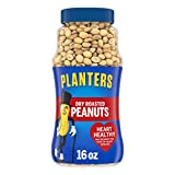 PLANTERS Dry Roasted Peanuts, 16 oz. Resealable Plastic Jars (Pack of...
