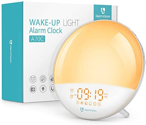 Heimvision Sunrise Alarm Clock A70C Wake up Light Sleep Aid Digital Alarm Clock Radio with Dual product image