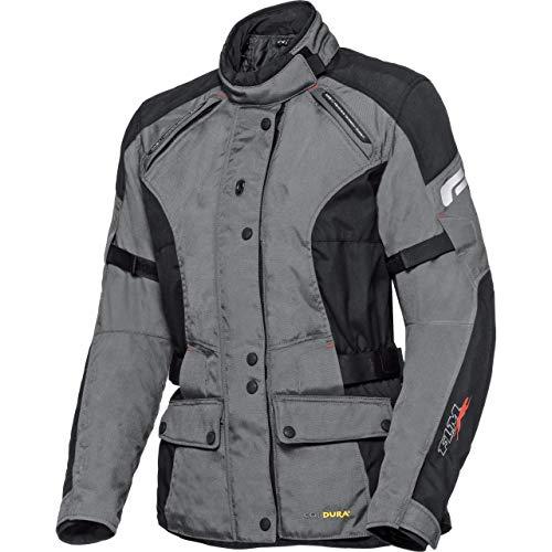 FLM Motorradjacke mit Protektoren Motorrad Jacke Damen Touren Textiljacke 1.0 grau L, Tourer, Ganzjährig