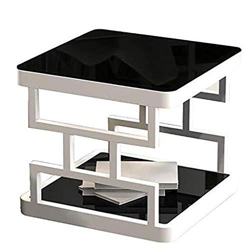 NGQDHR Petit Appartement créatif Table Basse Simple Salon Moderne côté canapé Simple Mini Coin carré (Couleur : A, Taille : 50 * 50 * 50cm)