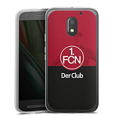 DeinDesign Silikon Hülle kompatibel mit Lenovo Moto E3 Hülle transparent Handyhülle Offizielles Lizenzprodukt Der Club 1. FC Nürnberg