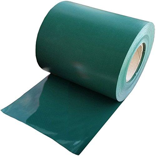 35m zichtwerende stroken PVC privacy hek hek windscherm geluidsbescherming ondoorzichtig voor staafmatten rolbreedte 19 cm voor dubbele stang hek en enkelstaafmat + 20 clips kleur antraciet / lichtgrijs / groen groen RAL 6005