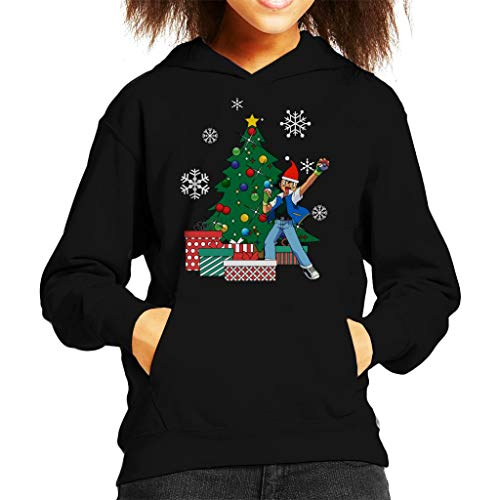 Ash Ketchum Around The Christmas Tree Kid's Hooded Sweatshirt