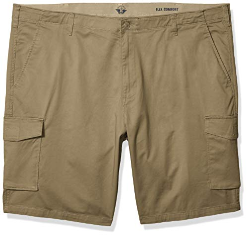 Dockers Men's Big and Tall Big & Tall Cargo Short, New British Khaki, 56W