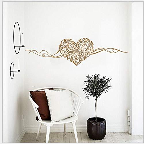 Pegatinas de pared de dormitorio pegatinas de pared de vid de amor grande sala de estar en casa decoración de fondo de dormitorio pegatinas de pared extraíbles autoadhesivas 63 * 57