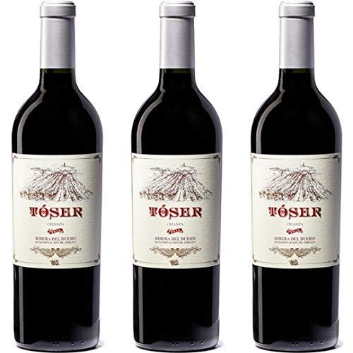 Tóser Vino Tinto Crianza - 3 botellas x 750ml - total: 2250 ml