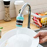 REHTRAD Kitchen tap water filter, adjustable water purifier faucet, with dust removal, rust removal tap water filter (Random Color) Approx 3 x 7cm/1.8 x 2.75 inch