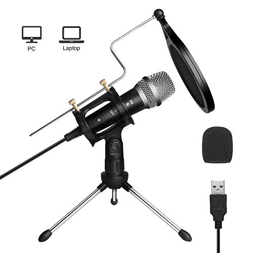USB Microphone, ARCHEER PC Computer Microphone Kit for PC/Laptop...