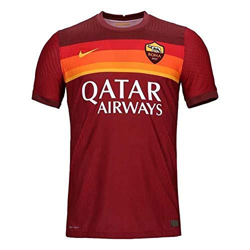 NIKE Roma M Vapor Mtch JSY SS Hm T-Shirt, Hombre, Team Crimson/Dark Team Red/University Gold Full Sponsor, S