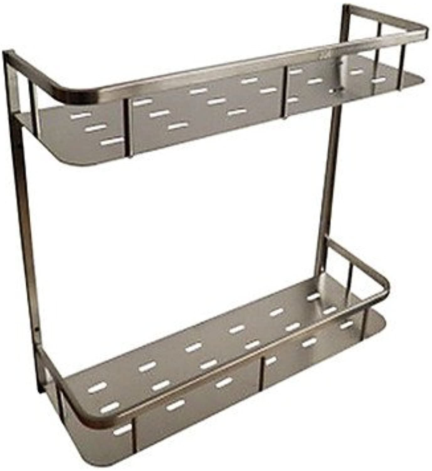 &Huahua The bathroom brushed stainless steel double wall rack