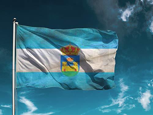 G | Bandera La Línea De La Concepción | Medidas 150cm x 85cm | Fácil colocación | Decoración Exteriores (1 Unidad)
