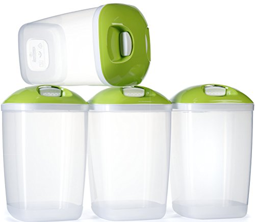 Ensemble sans BPA conteneurs en plastique pack de 4 riz pâtes stockage étanche - 1.4Lts