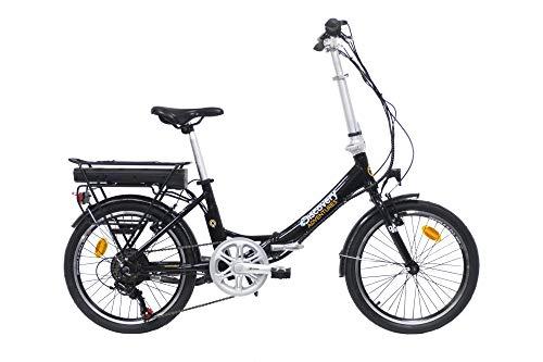 Discovery E2000 REAR MOTOR 6V, Bici Elettrica Pieghevole 20', colore nero lucido Unisex, 20