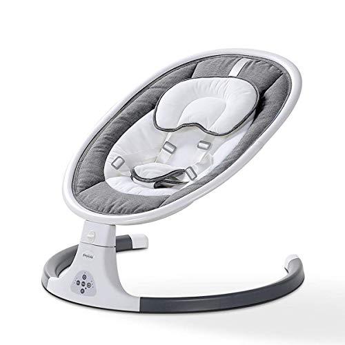 SSeir Bebé eléctrico, diseño de cinturón de Asiento de 5 Puntos, Columpio de Nacimiento con muñeca de Peluche, Plegable a tamaño Compacto, bebés recién Nacidos de 0 a 24 Meses