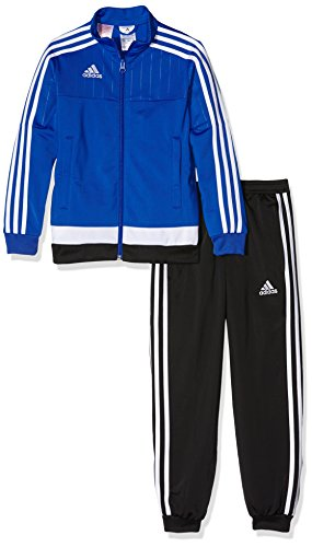 adidas Kinder Sportanzug Tiro15 pes su y Trainingsanzug, Bold Blue/White/Black, 164