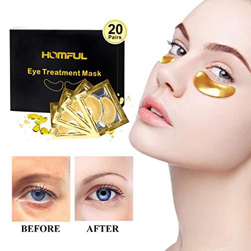 20 pairs Máscara para los ojos,Eye Mask Collagen,24K...